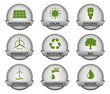 vector buttonset / grey *** green energy