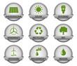 vector buttonset / grey *** green energy