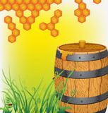 Barrel with honey