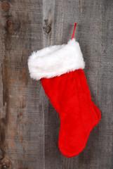 closeup christmas sock hanging