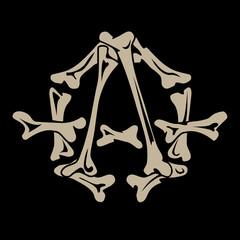 anarchy symbol bones