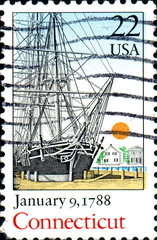 January 9,1788 Connecticut. US Postage.