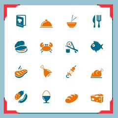 Food icons | In a frame series