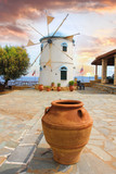 Traditional Wind Mill in Greece, Zakynthos Island