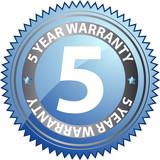 5 year warranty poster