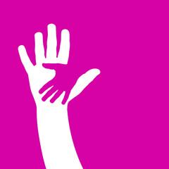 Logo children hand # Vector