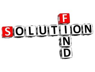 3D Find Solution Crossword