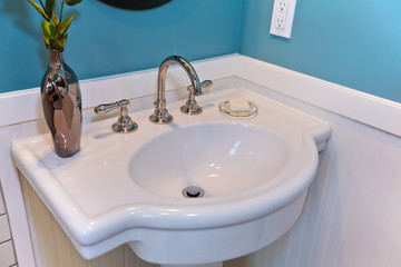Bathroom restored antique sink