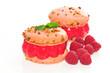 Macarons sorbet framboise