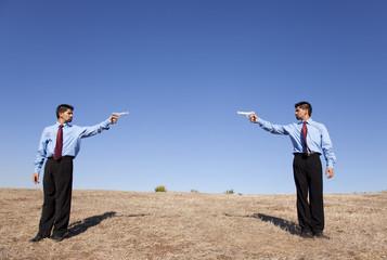 Businessman duel