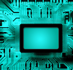 circuito elettronico con spazio testo