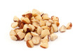Organic Brazil Nut on white background