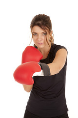 woman punch box gloves