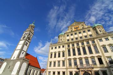 Augsburger Rathaus mit St. Peter