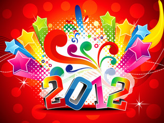 abstract colorful new year  wallpaper