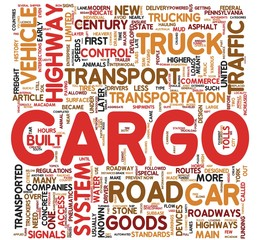 Cargo concept words in tag cloud