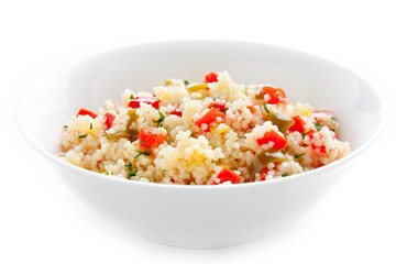 Bowl of vegetable couscous
