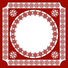 An openwork pattern of ethnic style_frame