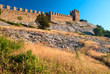 walls of Genoese fortress in Sudak, Crimea, Ukraine