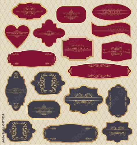 Vector set: vintage