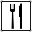 Essen Gaststätte Raststätte Besteck Schild Zeichen Symbol