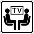 TV Fernseher Raum Zimmer Schild Zeichen Symbol