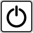 Einschalter Anschalten Schild Zeichen Symbol
