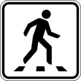 Zebrastreifen Schild Zeichen Symbol Piktogramm