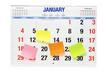 Leinwandbild Motiv Calendar with Adhesive Note Papers