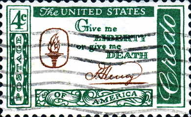 Give me liberty or give me death. Patrick Henry.US Postage.