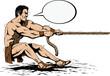 Hercules pulling a rope