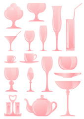 A collection of icons of different types of cookware