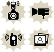 Lot of photography icon, vector illustration