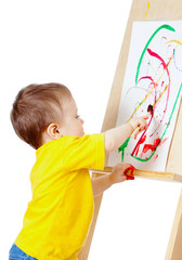 Child with paints