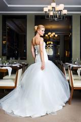 Beautiful bride in the restaurant