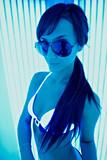 Girl in the solarium
