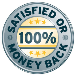 satisfied or money back icon label stamp