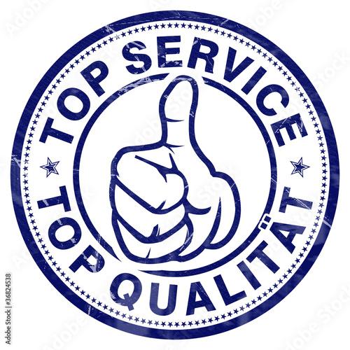 top service top qualität stempel button