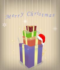 Gift box 2012 year vector illustration