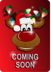 Christmas sign with reindeer