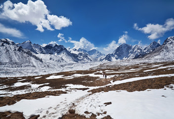 Mountain view from Sagarmatha National park, Nepal