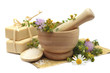 Herbal treatment - camomile, tutsan and cosmetics