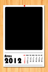 New year calendar 2012 April