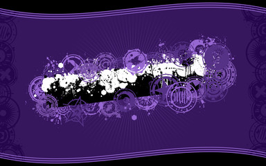 Vector Grunge Background with Splatter Banner