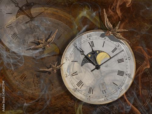 Leinwandbild Motiv Die Zeit verfliegt