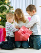 Happy Kids with Christmas Gifts