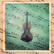 Musical texture vintage with violin