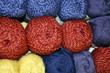 Wolle in verschiedenen Farben