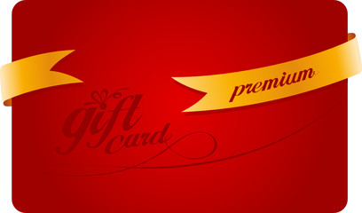 Premium Gift card with gold ribbon