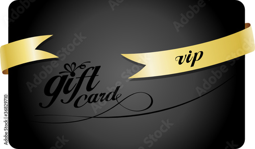 Vip Gift card with ribbon